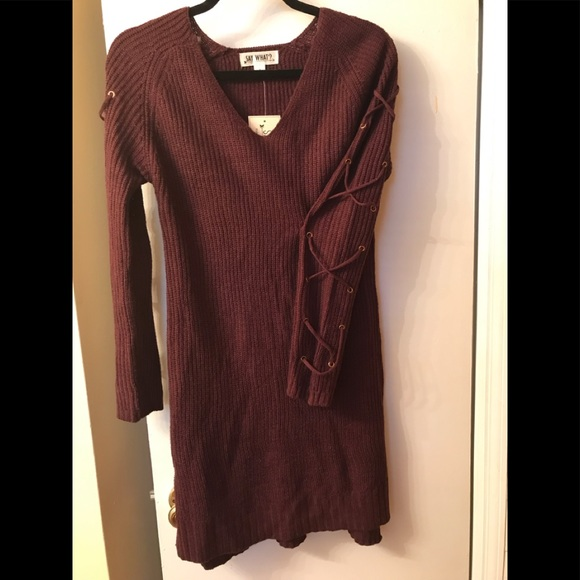 Say What? Dresses & Skirts - NWT Adorable Sweater Dress